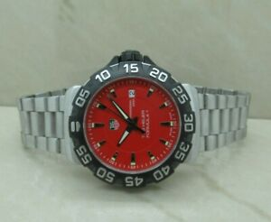 Tag Heuer Formula 1 Red Quartz Swiss Date Watch