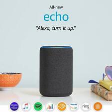 All-new Amazon Echo (3rd gen) | Smart speaker with Alexa, Charcoal (BRAND NEW)
