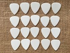20 PERSONALIZED Guitar Picks Solid white YOUR NAME ON PICKS!! Medium
