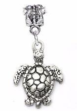Turtle Tortoise Beach Animal Sea Life Dangle Charm for European Bead Bracelets
