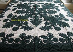 Hawaiian quilt wall hanging handmade 100% hand quilted/appliquéd BEDSPREAD ULU