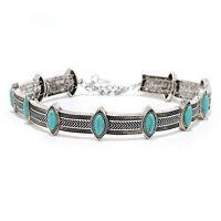 Gypsy Ethnic Retro Style Collar Choker Necklace Statement Bohemian Turquoise