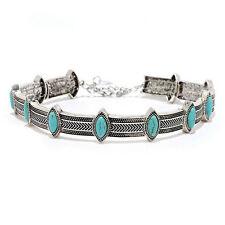 Choker Necklace Statement Bohemian Turquoise Gypsy Ethnic Retro Style Collar