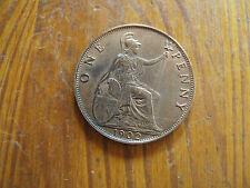 1902 Eduardo VII bronce Penny (muy alto grado) M.B.1