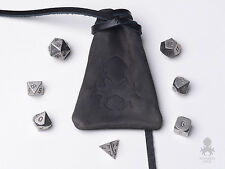 Dwarven Steel - Metal Dice Set with FREE Leather Dice Bag / RPG Metal Dice Set