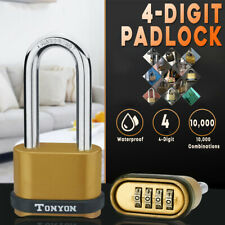 Waterproof 4 Digit Password Padlock Zinc Alloy Security Travel Luggage Door Lock