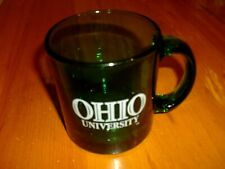 OHIO UNIVERSITY GREEN GLASS COFFEE MUG
