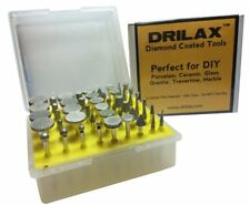 Drilax 50 Pcs Professional Quality High Density Diamond Drill Bit Burr Set Grit