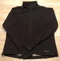 L.L. BEAN Women's Black Jacket Waterproof Nylon Sz M Stretch Coat Windbreaker
