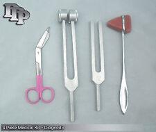 4 Piece Medical Kit Diagnostic Emt Nursing Surgical Ems Student Paramedic