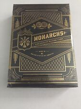 RARE Early Edition MONARCHS V2 Blue Playing Cards Circle Logo - Version 2