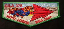 OA GILA HOST LODGE 378 BSA YUCCA COUNCIL SUPERMAN ROCKET 2007 W5A RARE FLAP