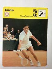 CARTE EDITIONS RENCONTRE 1977 / TENNIS - ROY EMERSON