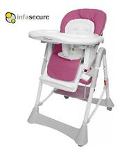 Br New Infasecure Nibble High Chair Infant Baby Children Kids Hi Lo Chair Orchid