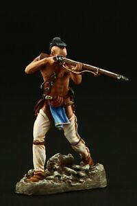 Tin soldier, Collectible Mohican Warrior, 1757 54 mm, American Natives