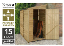 6x3 Pressure Treated Garden Timber Wall Shed Tool Store Single Door