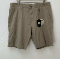 Nat Nast Men's Size 36 Stretch Classic Straight Fit Shorts Sepia Khaki NWT