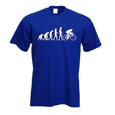 Cycling T Shirt | Classic Evolution of a cyclist Push bike T-Shirt Free Uk P&P