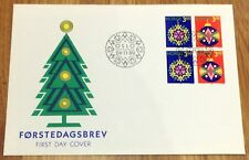 Norway Post FDC 1989.11.24. Christmas Stamps - Decorations - Block of Four