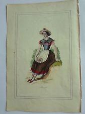 BRESIL femme assise en costume LITHOGRAPHIE originale du recueil  M.BOULGON 1860