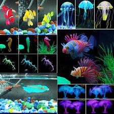 UK Aquarium Tropical Fish Tank Landscaping Decor Glowing Effect Plants Ornament
