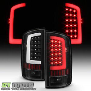 Black 2002-2006 Dodge Ram 1500 03-06 2500 3500 LED Bar Tail Lights Brake Lamps