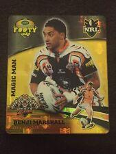 NRL Smith's Gold Footy Tazo 2007 46/64 Benji Marshall Wests Tigers Card
