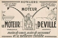 Y7056 Moteur DEVILLE - Pubblicità d'epoca - 1922 Old advertising