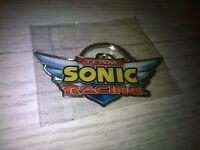 Official Sega Sonic Team Racing Promotional Metal Keyring New Sealed