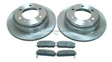 ISUZU TROOPER VAUXHALL FRONTERA & MONTEREY REAR 2 BRAKE DISCS AND PADS SET NEW