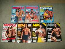 7 vtg MUSCLE MEDIA 2001 Bodybuilding FITNESS Weider supplements GYM abs IRON