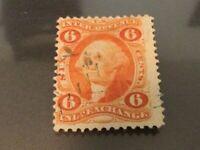 U.S. Revenue Scott R30c 6c Inland Exchange. Faint blue handstamp cancel (#51)