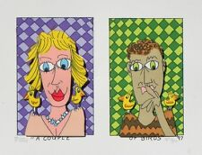 "James Rizzi ""A Couple of Birds"" 3-D Construction Lithograph"
