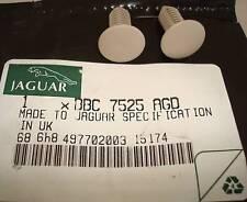 2 NEW JAGUAR XJS XJ6 FIXING BUTTON OR CLIP OATMEAL BBC7525AGD