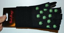 Body Rage Pot Leaf Fingerless Gloves One Size Fits Most
