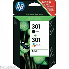 HP No 301 Black & Col Original OEM Ink Cartridge CH561EE CH562EE Deskjet Printer