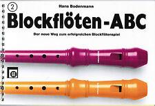 Blockflöte Noten Schule : Blockflöten ABC 2 (Bodenmann) Blockflötenschule