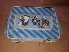 "Amazing  Greek Vintage ""The Smurfs""  school bag, 1980!!New!"