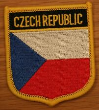 CZECH REPUBLIC Shield Country Flag Embroidered PATCH Badge P1