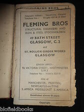 Fleming Bros Structural Engineers, Glasgow c1946 Rare Vintage Reference Guide