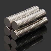 100 Stück Starke Neodym Magnete N52 10x2mm Magnet Rund Pinnwand Kühlschrank Set