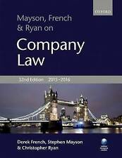 Mayson, French & Ryan on Company Law (Paperback), French, Derek, Mayson,...