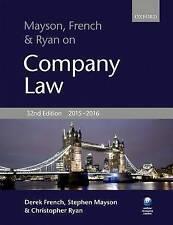 Mayson, French & Ryan on Company Law by Stephen Mayson, Christopher Ryan, Derek French (Paperback, 2015)