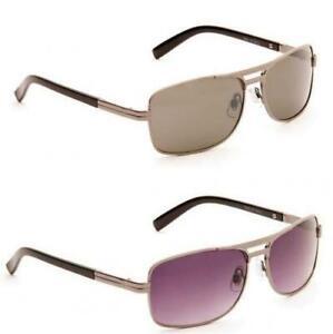 Men's Designer Eyelevel  'TROY' pewter Sunglasses UV400 Cat-3