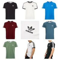 Adidas Originals Mens T-Shirt California 3-Stripes T shirts for men Short Sleeve