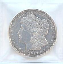 1921-D Morgan Silver Dollar USA • Cleaned • Grade AU-50