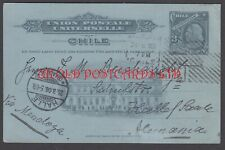 CHILE, Illustrated Postal Stationery Card, Used to Germany 1906
