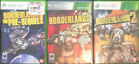Borderlands Xbox 360/one Games 1,2,& The Pre Sequel Complete Trilogy Handsome 3