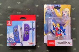 Nintendo Switch Zelda Skyward Sword Edition Joy con w/ Zelda Skyloft Amiibo