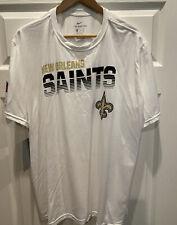 The Nike Tee New Orleans Saints DRI-FIT Anti-Odor T-Shirt Brand New Men's 2XL